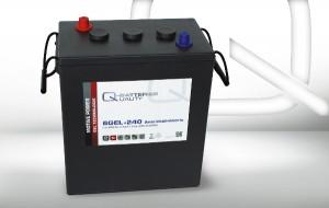Q-Batteries 6GEL-240 6V 240Ah GEL Akku Zyklentyp Zyklenfest
