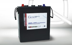 Q-Batteries 6GEL-270 6V 270Ah GEL Akku Zyklentyp Zyklenfest
