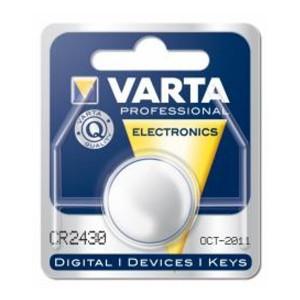 VARTA CR2430 Lithium Knopfzelle 3,0V 280mAh 1er-Blister