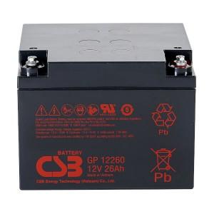 CSB GP12260 12V 26Ah Blei-Akku / AGM Batterie