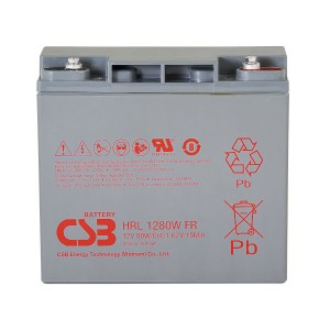 CSB HRL1280WFR 12V 80W AGM Batterie Hochstrom Longlife