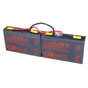 USV Ersatzakkuset für APC-RBC18 vormontiert mit Kabel und Stecker Industrieausrüsterqualität Hochstrom Longlife