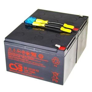USV Ersatzakkuset für APC-RBC6 vormontiert mit Kabel und Stecker Industrieausrüsterqualität