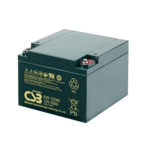 CSB EVX12260 12V 26Ah Blei-Akku / AGM Batterie Zyklenfest
