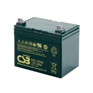 CSB EVX12340 12V 34Ah Blei-Akku / AGM Batterie Zyklenfest
