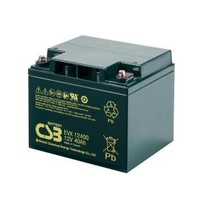 CSB EVX12400 12V 40Ah Blei-Akku / AGM Batterie Zyklenfest