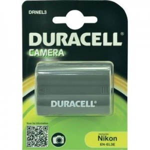 Duracell Digitalkamera und Camcorder Akku DRNEL3 kompatibel zu Nikon EN-EL3