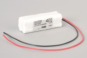 Ni-Cd Akkupack 20N150 Z 24V / 150mAh (0,15Ah) S4R2S 2-reihig im Schrumpfschlauch mit Kabel für Türsteuerungen