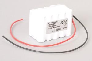 Ni-Cd Akkupack 15N700cl R3SK 18V / 700mAh (0,7Ah) für Türsteuerungen 3-reihig im Schrumpfschlauch mit Kabel