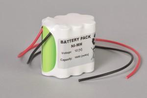 Ni-Mh Akkupack Notlicht Notbeleuchtung 12V / 1600mAh (1,6Ah) F3x1+F4x1+F3x1 Reihe mit Kabel