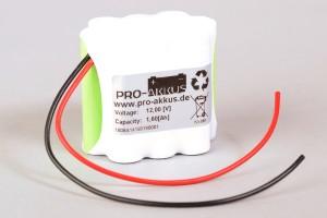 Ni-Mh Akkupack Notlicht Notbeleuchtung 12V / 1600mAh (1,6Ah) F3+F4+F3 Block mit Kabel
