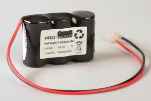 NiCd Notbeleuchtung Akku 3,6V / 2,5Ah passend für Gessler NICD_3625_PACK mit Kabel und Faston Buchse