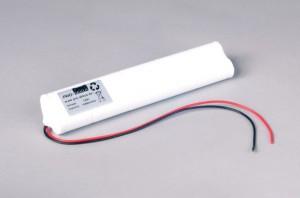Ni-Cd Akkupack Notlicht Notbeleuchtung 12V / 1500mAh (1,5Ah) L5x2 Stab mit Kabel