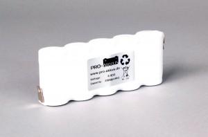 Ni-Cd Akkupack Notlicht Notbeleuchtung 6,0V / 2500mAh (2,5Ah) F5x1 Reihe, Faston Anschlüsse