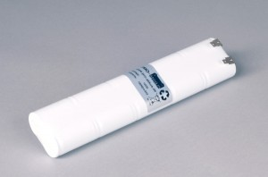 Ni-Cd Akkupack Notlicht / Notbeleuchtung 12V / 1800mAh (1,8Ah) L5x2 Stab, Faston Anschlüsse