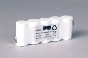 Ni-Cd Akkupack Notlicht Notbeleuchtung 6,0V / 1800mAh (1,8Ah) F5x1 Reihe, Faston Anschlüsse