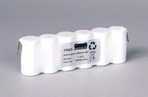 Ni-Cd Akkupack Notlicht Notbeleuchtung 7,2V / 2000mAh (2,0Ah) F6x1 Reihe, Faston Anschlüsse
