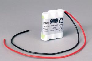 Ni-Mh Akkupack Notlicht Notbeleuchtung 3,6V / 1600mAh (1,6Ah) F3x1 Reihe mit Kabel