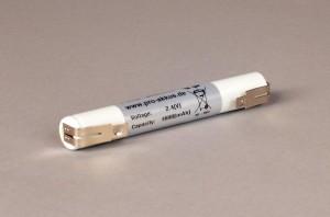 Ni-Mh Akkupack Notlicht Notbeleuchtung 2,4V / 1600mAh (1,6Ah) L2x1 Stab, Faston Anschlüsse