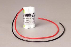 Ni-Mh Akkupack Notlicht Notbeleuchtung 2,4V / 1600mAh (1,6Ah) F2x1 Reihe mit Kabel