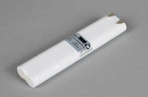 Ni-Cd Akkupack Notlicht / Notbeleuchtung 12V / 1700mAh (1,7Ah) L5x2 Stab, Faston Anschlüsse