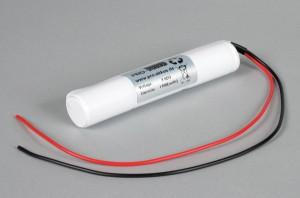 Ni-Cd Akkupack Notlicht Notbeleuchtung 3,6V / 1700mAh (1,7Ah) L3x1 Stab mit Kabel