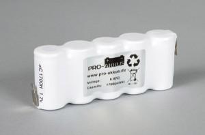 Ni-Cd Akkupack Notlicht Notbeleuchtung 6,0V / 1700mAh (1,7Ah) F5x1 Reihe, Faston Anschlüsse