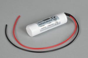 Ni-Cd Akkupack Notlicht Notbeleuchtung 2,4V / 1700mAh (1,7Ah) L2x1 Stab mit Kabel