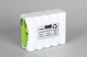 Ni-Mh Akkupack Notlicht Notbeleuchtung 12V / 4000mAh (4Ah) F5x2 Reihe, Faston Anschlüsse