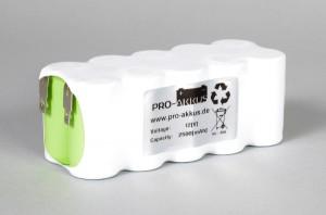 Ni-Mh Akkupack Notlicht Notbeleuchtung 12V / 2500mAh (2,5Ah) F5x2 Reihe, Faston Anschlüsse