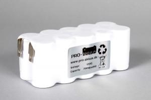 Ni-Cd Akkupack Notlicht Notbeleuchtung 12V / 2000mAh (2,0Ah) F5x2 Reihe, Faston Anschlüsse