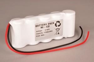 Akkupack Notlicht Notbeleuchtung 6,0V / 1700mAh (1,7Ah) SC 5er Reihe mit Kabel