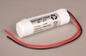 Akkupack Notlicht Notbeleuchtung 2,4V / 1700mAh (1,7Ah) Stabform mit Kabel