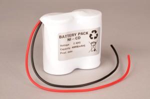 Akkupack Notlicht Notbeleuchtung 2,4V / 4000mAh (4,0Ah) in Reihe, Kabel mit offenem Ende