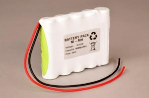 Ni-Mh Akkupack Notlicht Notbeleuchtung 6,0V / 4000mAh (4,0Ah) 4/3A Reihe mit Kabel