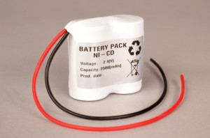 Akkupack Notlicht Notbeleuchtung 2,4V / 2500mAh (2,5Ah) Reihe mit Kabel