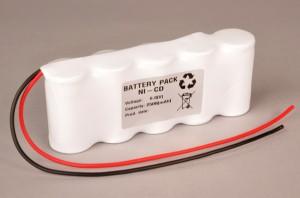 Akkupack Notlicht Notbeleuchtung 6,0V / 2500mAh (2,5Ah) Reihe, Kabel mit offenem Ende