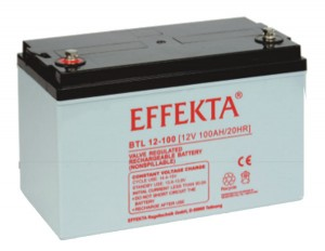 Effekta BTL12-100 12V 100Ah Blei-Akku / AGM Batterie