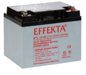 Effekta BTL12-45 12V 45Ah Blei-Akku / AGM Batterie