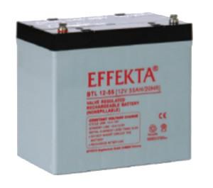 Effekta BTL12-55 12V 55Ah Blei-Akku / AGM Batterie