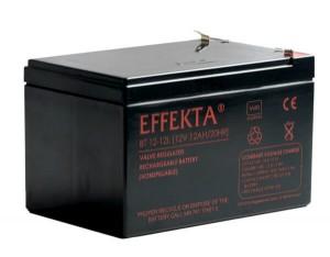 Effekta BT12-12L 12V 12Ah AGM Batterie VdS