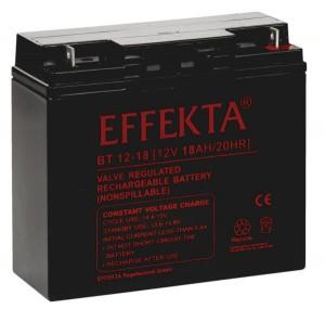 Effekta BT12-18 12V 18Ah Blei-Akku / AGM Batterie