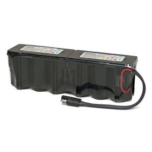 EnerSys Cyclon Akku 0819-0024 - 12V 2,5Ah F1x6 Kabel Stecker