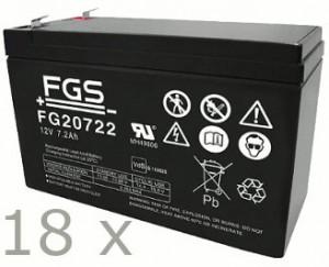 Akkusatz für Benning MT-Compact 6kVA USV - 18 x FGS 12V 7,2Ah Akkus mit VdS Nummer