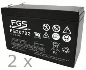 Akkusatz für AdPoS Micro-VT 1000 USV - 2 x FGS 12V 7,2Ah Akkus mit VdS Nummer