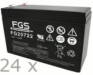 Akkusatz für Benning MT-Compact 8kVA USV - 24 x FGS 12V 7,2Ah Akkus mit VdS Nummer