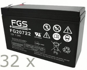 Batteriesatz für APC SU DP8000 + SU DP8000i (high quality)