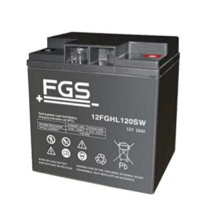 FGS 12FGHL120SW 12V 26Ah Blei-Akku / AGM Batterie Hochstrom Longlife