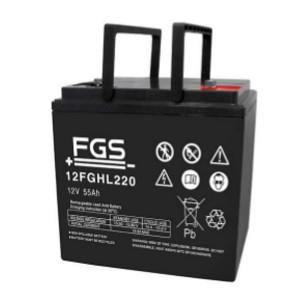 FGS 12FGHL220 12V 55Ah Blei-Akku / AGM Batterie Hochstrom Longlife