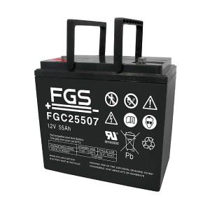 FGS FGC25507 12V 55Ah Blei-Akku / AGM Batterie Zyklentyp